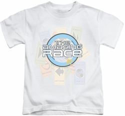 Amazing Race kids t-shirt The Race white