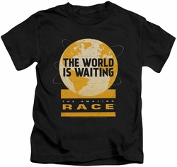Amazing Race kids t-shirt Waiting World black