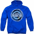 Amazing Race pull-over hoodie Around The Globe adult royal blue