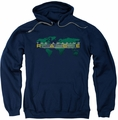 Amazing Race pull-over hoodie Around The World adult navy