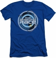 Amazing Race slim-fit t-shirt Around The Globe mens royal