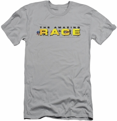 Amazing Race slim-fit t-shirt Running Logo mens silver
