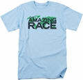 Amazing Race t-shirt Race World mens light blue