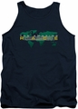 Amazing Race tank top Around The World mens navy