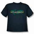 Amazing Race youth teen t-shirt Around The World navy