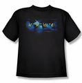 Amazing Race youth teen t-shirt Faded Globe black