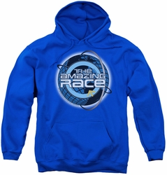 Amazing Race youth teen hoodie Around The Globe royal blue