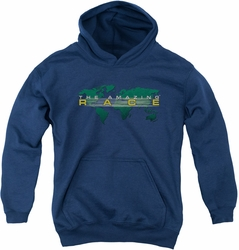 Amazing Race youth teen hoodie Around The World navy