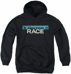 Amazing Race youth teen hoodie Bar Logo black