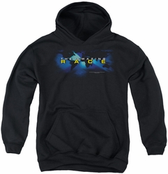 Amazing Race youth teen hoodie Faded Globe black