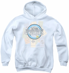 Amazing Race youth teen hoodie The Race white