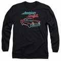 American Graffiti adult long-sleeved shirt Neon black