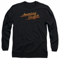 American Graffiti adult long-sleeved shirt Neon Logo black