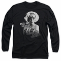 American Graffiti adult long-sleeved shirt Peel Out black