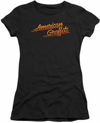 American Graffiti juniors t-shirt Neon Logo black