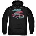 American Graffiti pull-over hoodie Neon adult black