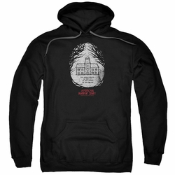 American Horror Story Roanoke pull-over hoodie Its Everywhere adult Black