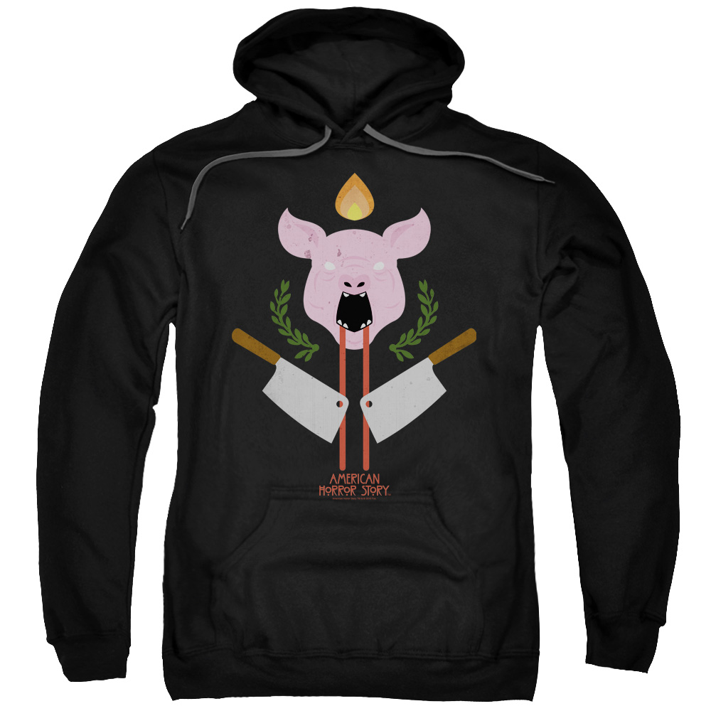 American horror story roanoke pull over hoodie pig for Custom t shirts roanoke va