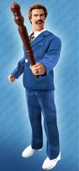 Anchorman Ron Burgundy Retro Blue Suit 8 inch Figure