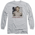 Andy Griffith adult long-sleeved shirt All American silver