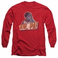 Andy Griffith adult long-sleeved shirt Aw Pa red