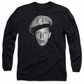 Andy Griffith adult long-sleeved shirt Barney Head black