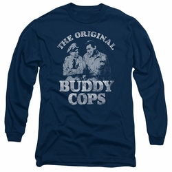 Andy Griffith adult long-sleeved shirt Buddy Cops navy