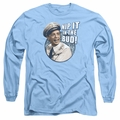 Andy Griffith adult long-sleeved shirt Nip It carolina blue