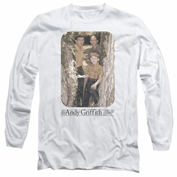 Andy Griffith adult long-sleeved shirt Tree Photo white