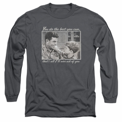 Andy Griffith adult long-sleeved shirt Wise Words charcoal