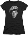Andy Griffith juniors t-shirt Barney Head black