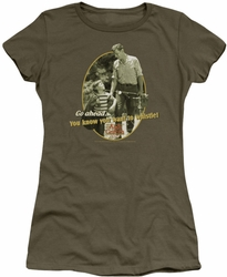 Andy Griffith juniors t-shirt Gone Fishing military green