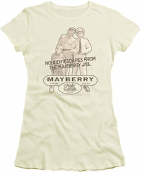 Andy Griffith juniors t-shirt Mayberry Jail cream