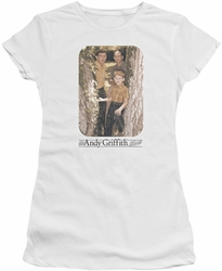 Andy Griffith juniors t-shirt Tree Photo white