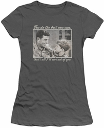 Andy Griffith juniors t-shirt Wise Words charcoal