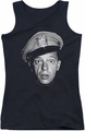 Andy Griffith juniors tank top Barney Head black