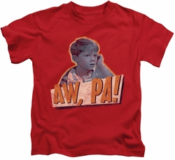 Andy Griffith kids t-shirt Aw Pa red