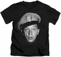 Andy Griffith kids t-shirt Barney Head black