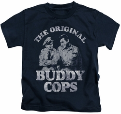 Andy Griffith kids t-shirt Buddy Cops navy