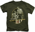 Andy Griffith kids t-shirt Gone Fishing military green