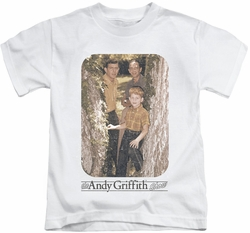 Andy Griffith kids t-shirt Tree Photo white