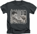 Andy Griffith kids t-shirt Wise Words charcoal