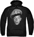 Andy Griffith pull-over hoodie Barney Head adult black