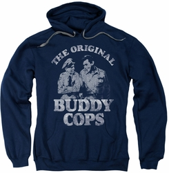 Andy Griffith pull-over hoodie Buddy Cops adult navy