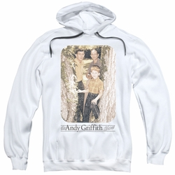 Andy Griffith pull-over hoodie Tree Photo adult white