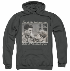 Andy Griffith pull-over hoodie Wise Words adult charcoal