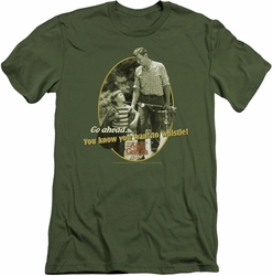 Andy Griffith slim-fit t-shirt Gone Fishing mens military green