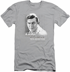 Andy Griffith slim-fit t-shirt In Loving Memory mens silver