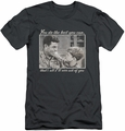 Andy Griffith slim-fit t-shirt Wise Words mens charcoal