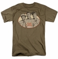 Andy Griffith t-shirt 3 Funny Guys mens safari green